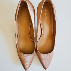 Calvin Klein Shoes - NWB Calvin Klein Gayle Coated Matte Linen Pumps